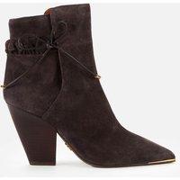 Tory Burch Women's Lila Suede Heeled Boots - Grey - 6