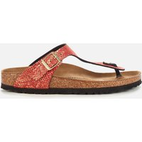 Birkenstock Women's Shiny Python Gizeh Toe-Post Sandals - Red - EU 42/UK 8