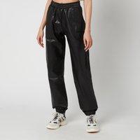 H2OFagerholt Women's Faux Leather Track Suit Trousers - Black - L