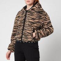 Calvin Klein Jeans Womens Zebra Sherpa Jacket - Zebra Aop Ir