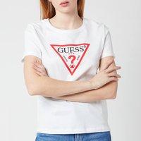 Guess Women's Short Sleeve Original T-Shirt - True White - L