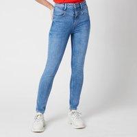 Guess Women's Super High Yokie Jeans - Deep Purple - W26/L30