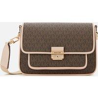 MICHAEL Michael Kors Womens Bradshaw Medium Messenger Bag - Brown/Soft Pink