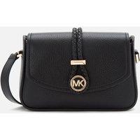 MICHAEL Michael Kors Women's Lea Small Flap Cross Body Bag - Black