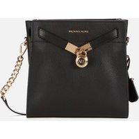 MICHAEL Michael Kors Womens Nouveau Hamilton Messenger Bag - Black