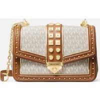 MICHAEL Michael Kors Womens Soho Large Shoulder Bag - Vanilla/Acorn