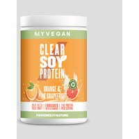 Clear Soy Protein Powder - 340g - Orange and Pink Grapefruit
