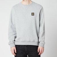 Belstaff Men's Patch Logo Sweatshirt - Grey Melange - XXL
