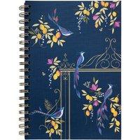Sara Miller Floral Wiro B5 Notebook - Navy