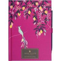 Sara Miller Floral B6 Notebook & Pen - Pink