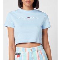 Tommy Jeans Women's TJW Rib Babydoll T-Shirt - Light Powdery Blue - XS