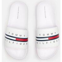Tommy Hilfiger Boys' Flag Print Pool Sliders - White - UK 2 Kids