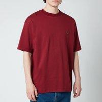 Drole de Monsieur Men's Ribbed NFPM T-Shirt - Burgundy - XL