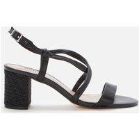 Dune Women's Jazzi Leather Block Heeled Sandals - Black - UK 6