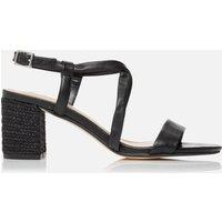 Dune Women's Jazzi Leather Block Heeled Sandals - Black - UK 7