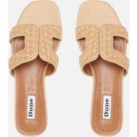 Dune Women's Loupe Raffia Flat Sandals - Natural/Plain/Synthetic - UK 5