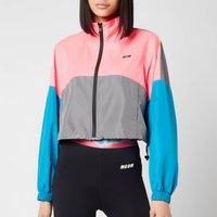 MSGM Active Womens Colourblock Jacket - Fluo Pnk - L