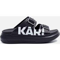 KARL LAGERFELD Women's Kapri Leather Flatform Sandals - Black - UK 4