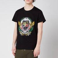 Balmain Men's Printed Crest T-Shirt - Black - M