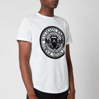 Balmain Men's Coin Flock T-Shirt - White - S