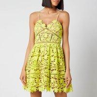 Self-Portrait Women's Azealea Mini Dress - Lime - UK 12