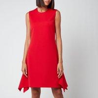 Victoria, Victoria Beckham Women's Flounce Hem Dress - Postbox Red - UK 12