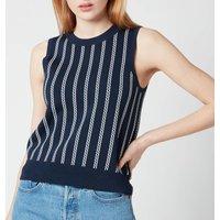 MICHAEL Michael Kors Women's Sleeveless Chain Vest - Midnight Blue/White - L