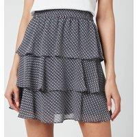 MICHAEL Michael Kors Womens Mini Floral Flirty Skirt - Midnight Blue - S