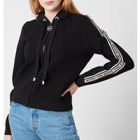 MICHAEL Michael Kors Women's Logo Zip Hoodie - Black - L