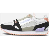 Puma Women's Mile Rider Power Play Running Style Trainers - Puma White/Puma Black/Apricot Blush - UK