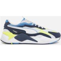 Puma Men's Rs X3 Twill Airmes Running Style Trainers - Puma White/Peacoat - UK 8