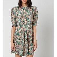 See By Chloe Women's Short Puff Sleeve Floral Dress - Multi - EU 40/UK 12