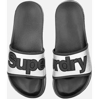 Superdry Women's Eva Pool Slide Sandals - Silver - L