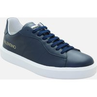 Mario Valentino Shoes Men's Leather Cupsole Trainers - Blue - UK 11