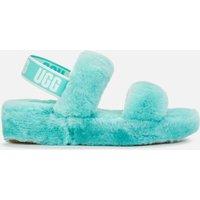 UGG Women's Oh Yeah Sheepskin Slides - Tide Pool - UK 5
