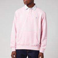 Polo Ralph Lauren Mens Rl Fleece Rugby Polo Shirt - Carmel Pink - XXL