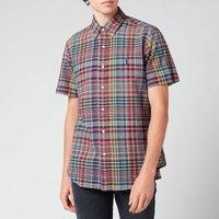 Polo Ralph Lauren Men's Custom Slim Fit Plaid Cotton Shirt - Red/Navy Multi - S