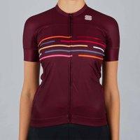 Sportful Women's Velodrome Short Sleeve Jersey - L - Red Wine