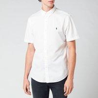 Polo Ralph Lauren Men's Slim Fit Garment Dyed Twill Short Sleeve Shirt - White - L