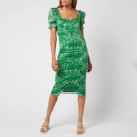 Hope and Ivy Womens The Carrie Made with Liberty Fabric - Tonal Green - UK 14