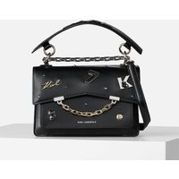 KARL LAGERFELD Womens K/Karl Seven Pins Shoulder Bag - Black