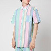 Tommy Jeans Men's Stripe 2 Short Sleeve Shirt - Romantic Pink Multi - XL