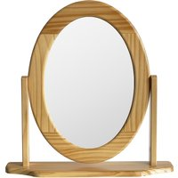 Oval Dressing Table Mirror - Pine