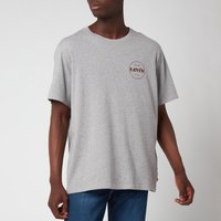 Levis Mens Relaxed Fit Circle Logo T-Shirt - Heather Grey - XL