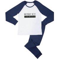 Birthday Boy Lockdown Edition Men's Pyjama Set - White/Navy - M