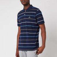 GANT Men's Breton Stripe Pique Polo Shirt - Navy/White - XXL