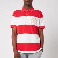 GANT Men's Flag Crest Barstripe Pique Polo Shirt - Bright Red - M