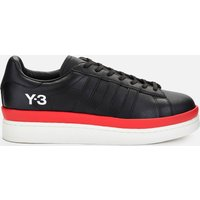 Y-3 Men's Hicho Leather Low Top Trainers - Black/Off White/Red - UK 8
