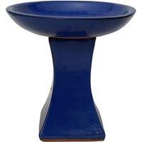 Chiswick Blue Glazed Bird Bath
