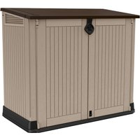 Keter Store It Out Midi Outdoor Plastic Garden Storage Shed 880L - Beige/Brown